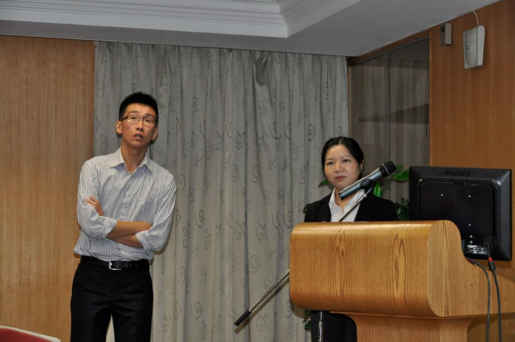 L to R, Dr KK Chan and Dr Eunise Ho