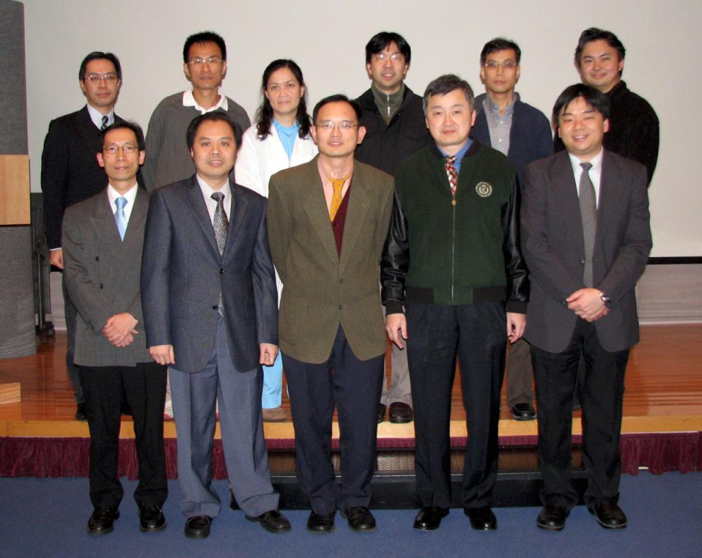 From left to right, Front row: Dr CHING Chi Keung, Dr TANG Kam Shing, Dr CHAN Wai Ming, Dr YAN Wing Wa (Chairman), Dr CHAN Yan Fat Alfred (Secretary); Back row: Dr LAU Chun Wing Arthur (Website Editor-in-chief), Dr CHAN Kin Wai, Dr CHAN Pik Kei Osburga (Treasurer), Dr CHAN King Chung Kenny, Dr SO Sheung On, Dr TAI Kian Bun