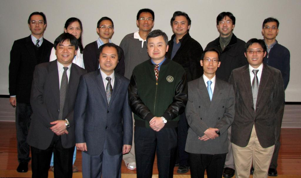 Council Members 2008 - 2010: From left to right, Front row: Dr CHAN Yan Fat Alfred (Secretary), Dr TANG Kam Shing, Dr YAN Wing Wa (Chairman), Dr CHING Chi Keung, Dr TSANG Chi Chung Chris; Back row: Dr LAU Chun Wing Arthur (Website Editor-in-chief), Dr CHAN Pik Kei Osburga (Treasurer), Dr LAM Koon Ngai Philip, Dr CHAN Kin Wai, Dr TAI Kian Bun, Dr CHAN King Chung Kenny, Dr SO Sheung On