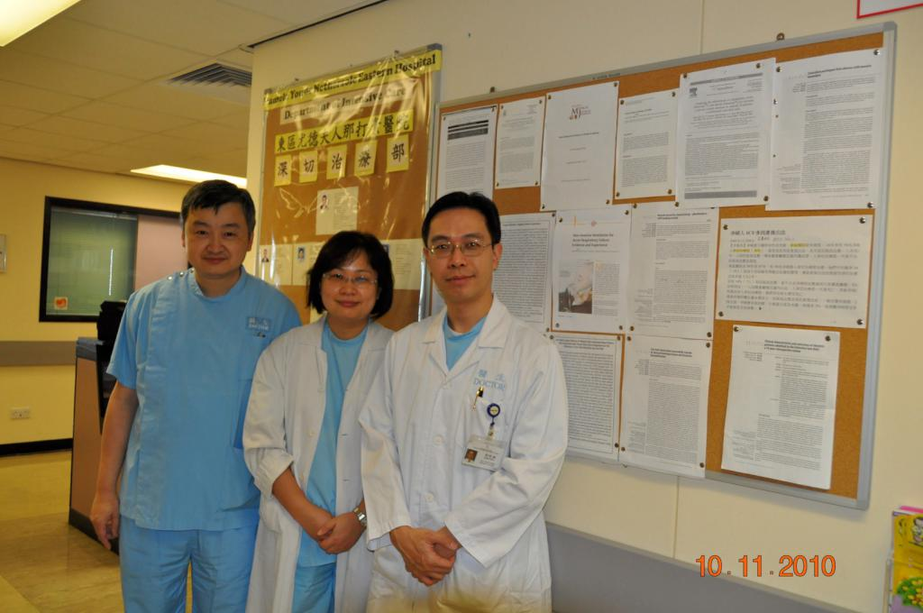 From left to right: Dr WW YAN, Dr CHU Kong, Dr Arthur CW LAU