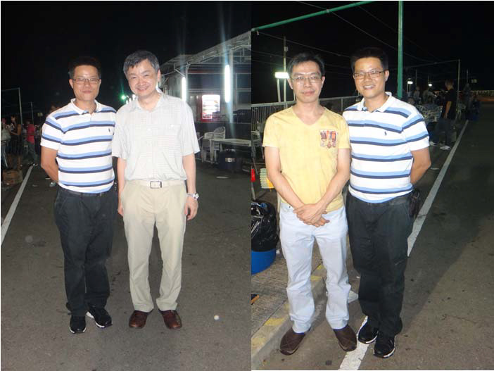 Dr David Huang with Dr WW Yan and Dr CW Lau at Whitehead, Hong Kong for BBQ